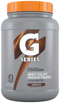 Gatorade® G Series™ 03 Recover Chocolate Whey Isolate Protein Powder