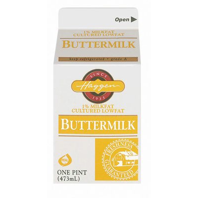 Haggen 1% Milkfat Buttermilk 1 Pt Carton