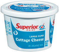 Superior Large Curd Cottage Cheese 16 Oz Plastic Tub