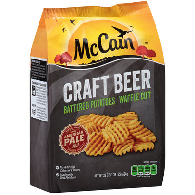 McCain® Craft Beer Battered Potatoes Waffle Cut Fries 22 oz. Bag