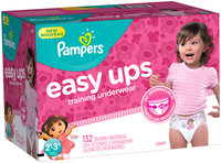 Pants Pampers Easy Ups Training Underwear Girls Size 4 2T-3T 132 Count