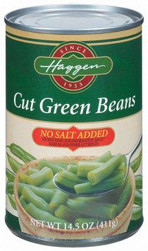 Haggen Cut No Salt Added Green Beans 14.5 Oz Can