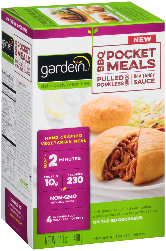 gardein™ BBQ Pocket Meals Pulled Porkless Shreds