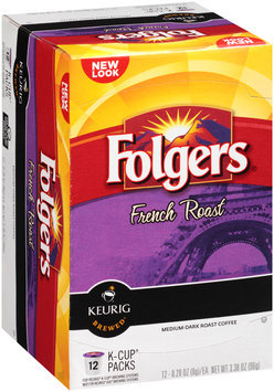 Folgers® French Roast Medium-Dark Roast Coffee K-Cup® Packs 12 ct Box