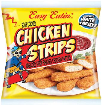 Easy Eatin'® Breaded Strip Shaped Chicken Patties Chicken Strips 7 oz.