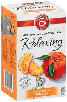 Teekanne Relaxing Mandarin Breeze Caffeine Free 1.41 Oz Tea Bags 20 Ct Box