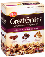 Post® Great Grains® Raisins, Dates & Pecans Cereal 40.5 oz. Box