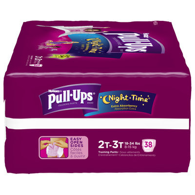 Huggies® Pull-Ups® Night Time® Training Pants for Girls 2T-3T 38 ct Pack