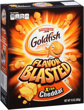 Goldfish® Flavor Blasted® Xtra Cheddar Baked Snack Crackers 10 oz. Box