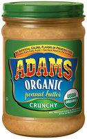 Adams Organic Crunchy Peanut Butter 16 Oz Jar