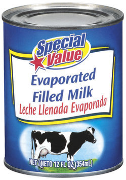 Special Value Filled Evaporated Milk 12 Oz Can