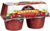 Speas Farm Organic Chunky W/Cranberries 4 Pk/ Apple Sauce 4 Oz Cup