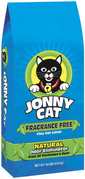 Jonny Cat Fragrance Free Clay W/Natural Odor Eliminator Cat Litter 10 Lb Stand Up Bag
