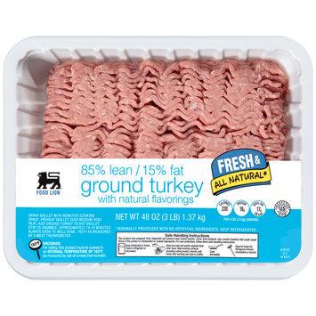 Food Lion® Ground Turkey 85% Lean/15% Fat 48 oz. Tray