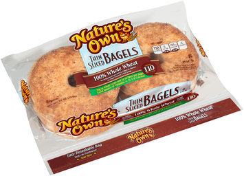 Nature's Own® 100% Whole Wheat Thin Sliced Bagels 8 ct Pack