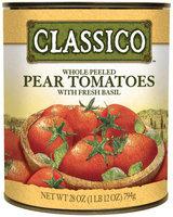 CLASSICO Pear Whole Peeled Fresh Basil Tomatoes