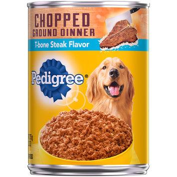 Pedigree® Wet Dog Food Chopped Ground Dinner T-bone Steak Flavor