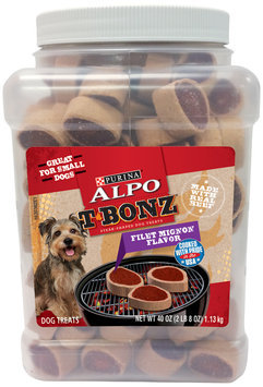 Purina Alpo T-Bonz Filet Mignon Flavor Steak-Shaped Dog Treats 40 oz. Pouch