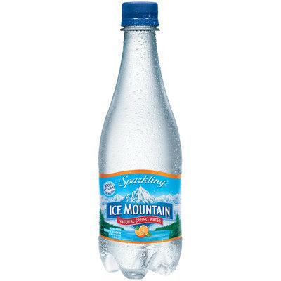 Ice Mountain Sparkling Natural Spring Water Mandarin Orange Essence 0.5L Plastic Bottle