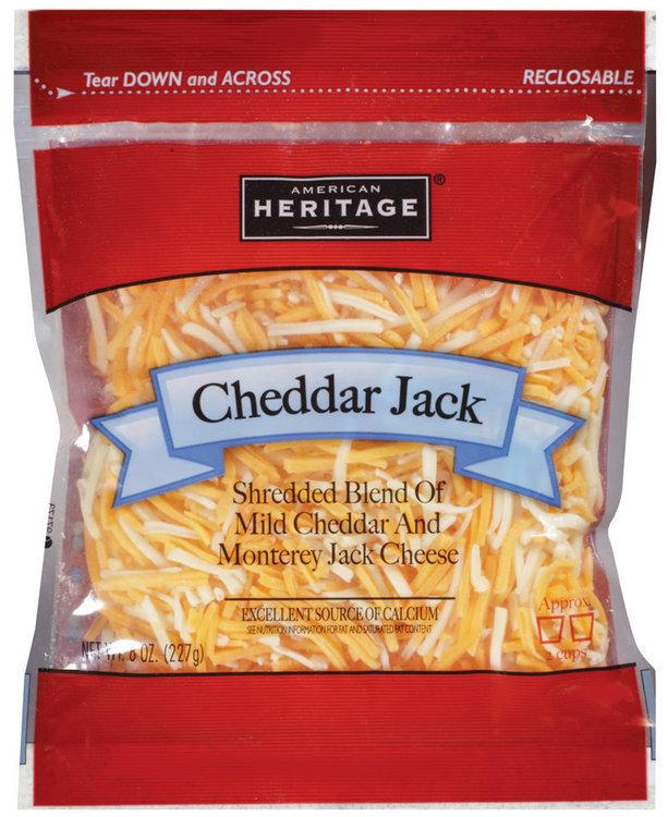 american heritage® shredded cheddar jack cheese