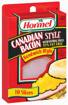 HORMEL Canadian Style Sandwich Style Slices 10 Ct Bacon