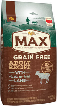 Nutro™ Max™ Grain Free Adult Recipe with Pasture-Fed Lamb Dog Food 4 lb. Bag