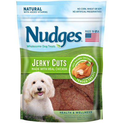 Nudges® Health and Wellness Chicken Jerky Wholesome Dog Treats 5 oz. Bag