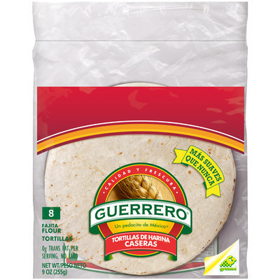 Guerrero® Fajita Flour Tortillas 9 oz. Bag