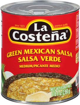 La Costena® Medium Green Mexican Salsa 104 oz. Can