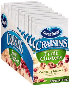 Ocean Spray® Craisins® Cranberry Granola Dried Cranberries Fruit Clusters 10-2 oz. Box