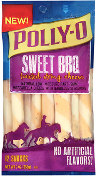 Polly-O Sweet BBQ Twisted String Cheese 12 ct Bag