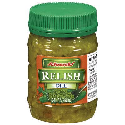 Schnucks Dill Relish 10 Oz Plastic Jar