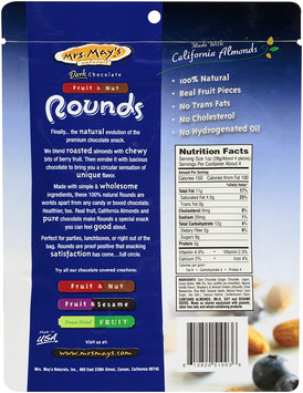 Mrs. May's Naturals® Dark Chocolate Fruit & Nut Rounds Blueberry Almond 4 oz Peg