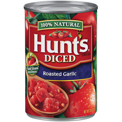 Hunt's Diced Roasted Garlic Tomatoes 14.5 Oz Can
