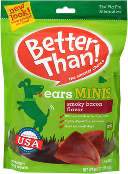 Better Than!™ Smoky Bacon Flavor Ears Minis Premium Dog Treats 6.9 oz. Bag