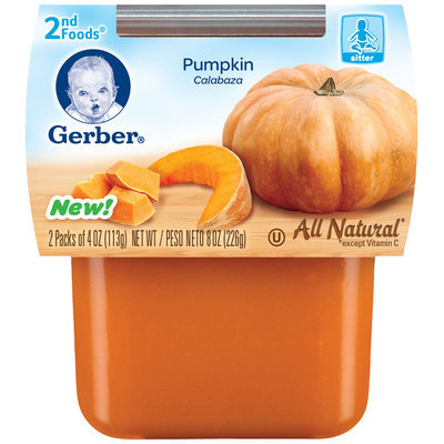 Gerber® 2nd Foods® Pumpkin Puree 2-4 oz. Cups