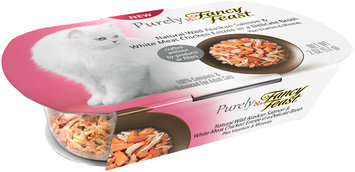 Purina Purely Fancy Feast Natural Wild Alaskan Salmon & White Meat Chicken Entree in a Delicate Broth Cat Food 2 oz. Tray