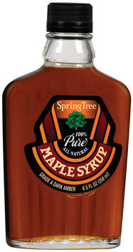 Spring Tree 100% Pure Grade A Dark Amber  Maple Syrup 8.5 Oz Glass Bottle