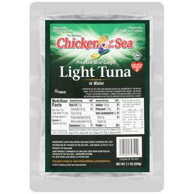 Chicken of the Sea® Light Tuna in Water 7.1 oz. Pouch