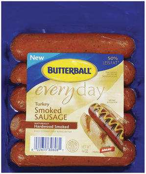 Butterball Everyday Naturally Hardwood Smoked 5 Ct Turkey Smoked Sausage 14 Oz Package
