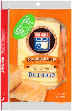 Finlandia® Natural Muenster Cheese Deli Slices 7 oz. Pack