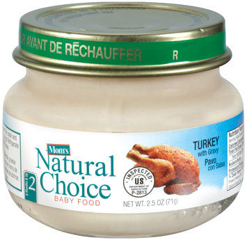 Mom's Natural Choice Baby Food Turkey with Gravy 2.5 oz Jar