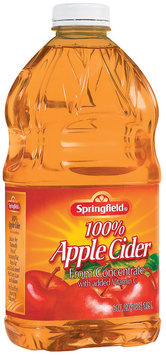 Springfield 100% Juice from Concentrate Apple Cider 64 Fl Oz Plastic Bottle