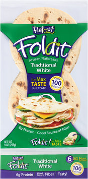 Flatout® Foldit® Traditional White Artisan Flatbread 9 oz. Packet
