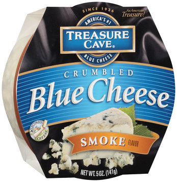 Treasure Cave® Smoke Flavor Crumbled Blue Cheese 5 oz. Tub