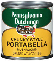 Pennsylvania Dutchman Mushrooms Chunky Style Portabella 4 oz. Can