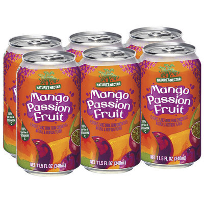 Nature's Nectar Mango Passion Fruit, Modified 1/20/10 Juice Drink 11.5 Oz Can