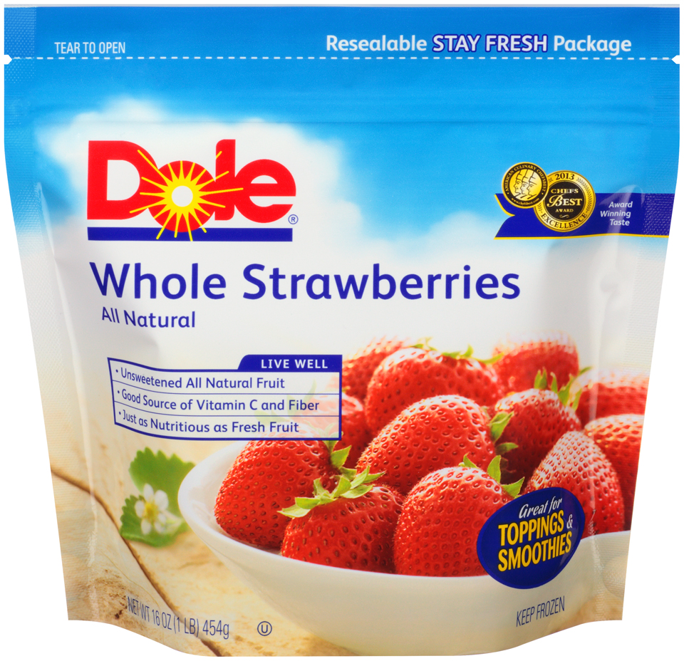 Dole® All Natural Whole Strawberries 16 oz. Pouch