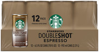 Starbucks® Doubleshot® Espresso Coffee Drink 12 Pack 6.5 fl. oz. Cans