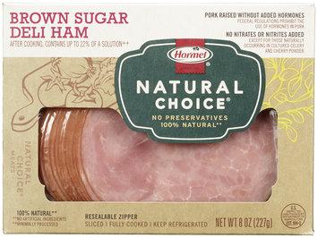 HORMEL NATURAL CHOICE Brown Sugar 100% NATURAL Deli Ham